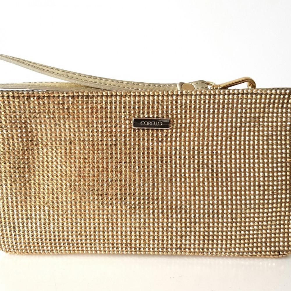 44cb2663a8e Clutch Dourada Corello